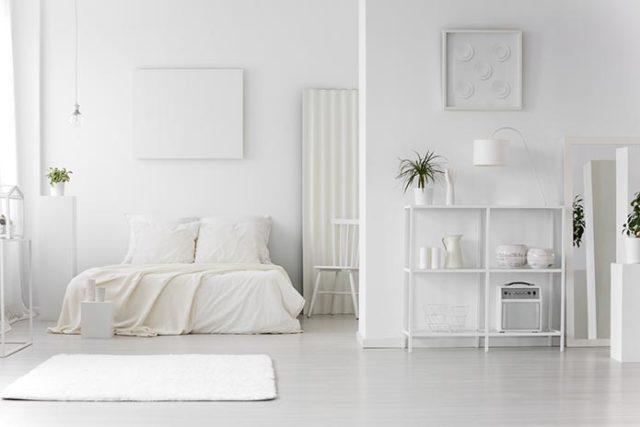 Biały dywan do sypialni